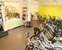 Verkaufsraum mit Fahrrädern