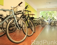 Fahrräder im Verkaufsraum